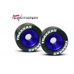 Traxxas 5186A Mounted Wheelie Bar Tires Blue