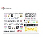 Kyosho IGB152-1 Decal Set(Chevrolet Corvette C6-R 2007)