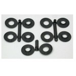 RPM80302 BODY SAVERS 3/16 POSTS (BLK)