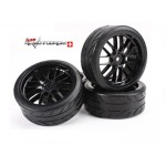 Team Magic 503330BK Räder 8Spoke schwarz (4 Stk)