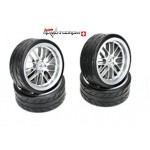 Team Magic 503330FS Räder 8Spoke Fog Silber(4 Stk)