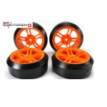 Team Magic 503390 Räder 5Spoke Orange Felgen (4 Stk)